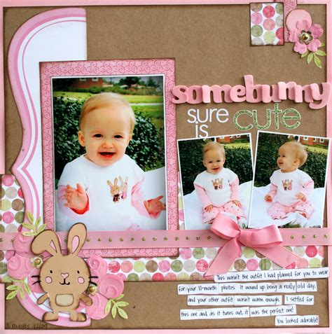 scrapbook layout gallery layout somebunny sure is cute