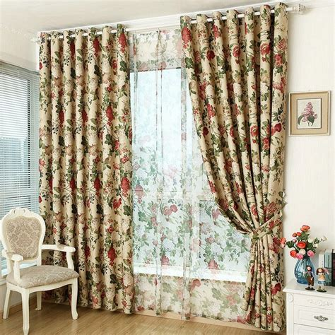 floral curtains for living room modern style luxury window blackout floral curtain for