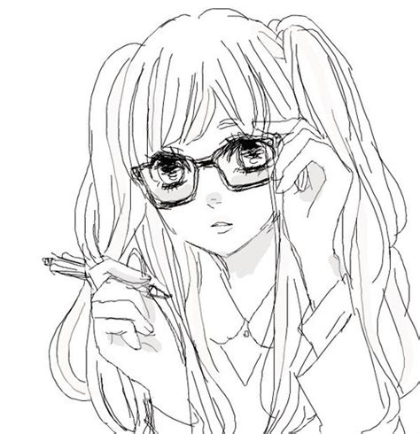 kawaii anime with glasses we heart it anime