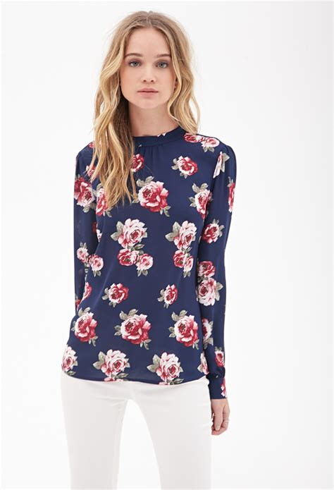 Blouse Flowery blue floral blouse clothing