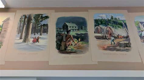 post office mural depicting cruel native americans
