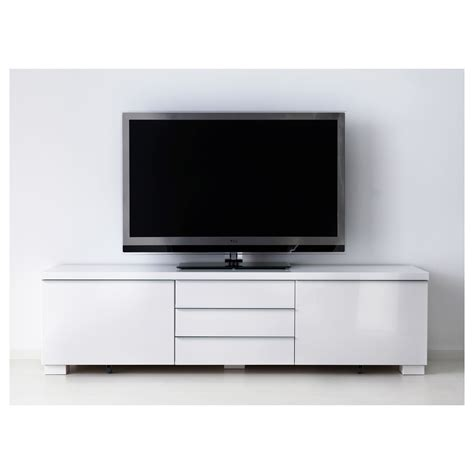 besta burs best 197 burs tv bench high gloss white 180x41 cm ikea