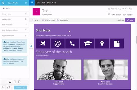 sharepoint color palette tool sharepoint color palette and themes tool support center