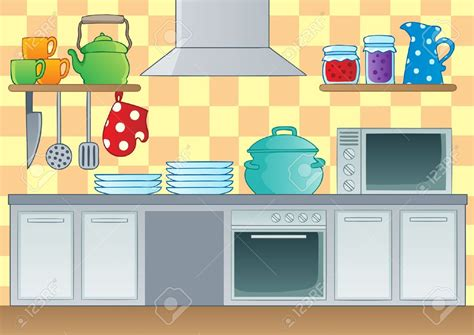 kitchen cartoon the kitchen clipart cartoon pencil and in color the
