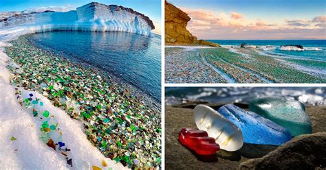 russian glass beach russians dumped vodka bottles into sea and nature turned