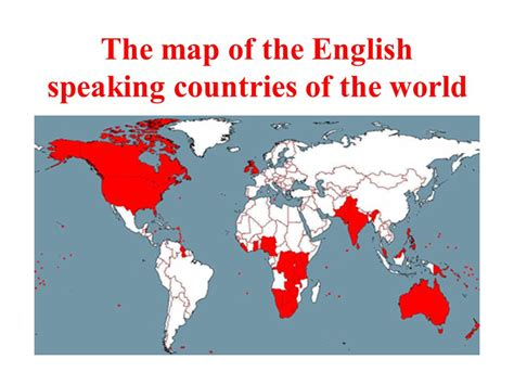 speaking countries map the speaking countries ppt