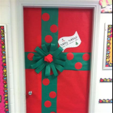 pinterest classroom door decorations christmas mrs rector s classroom door decoration for present wrapping classroom bulletin