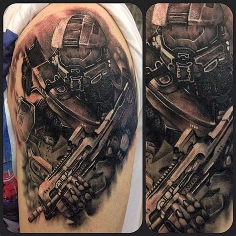 collection of 25 halo tattoo