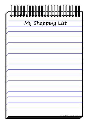 5 shopping list templates formats exles in word excel
