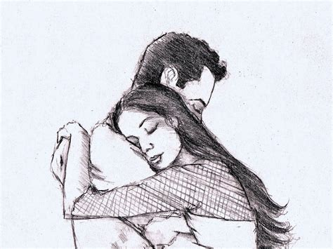 Hd Lovers Pencil Images | hd love pencil drawing love couple drawings pics quotes