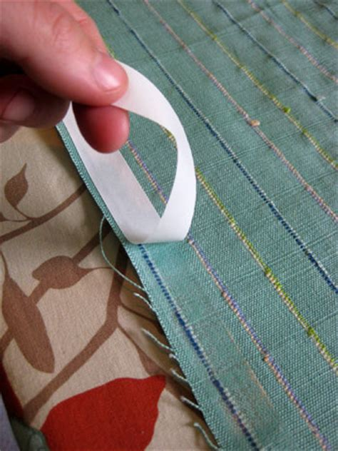 double stick no iron no sew fashion hem tape for denim hemming curtains with double sided tape curtain