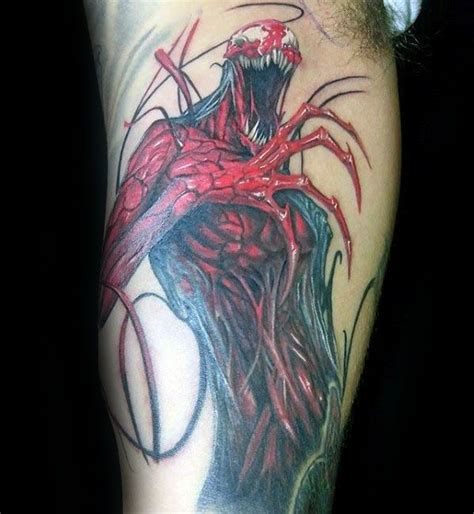carnage tattoo 50 carnage designs for comic book