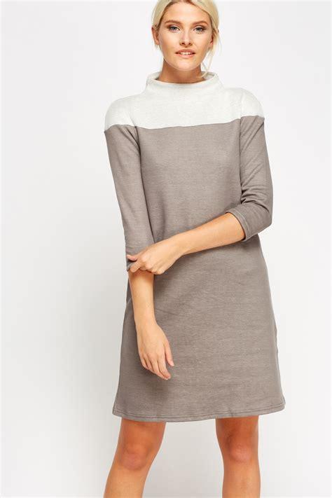 Neck Color Block Dress high neck colour block jumper dress just 163 5