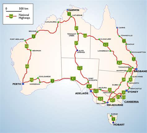 australia road map australia highway map
