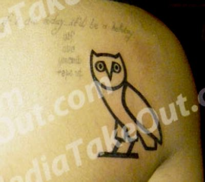 drake owl tattoo s back owl popstartats