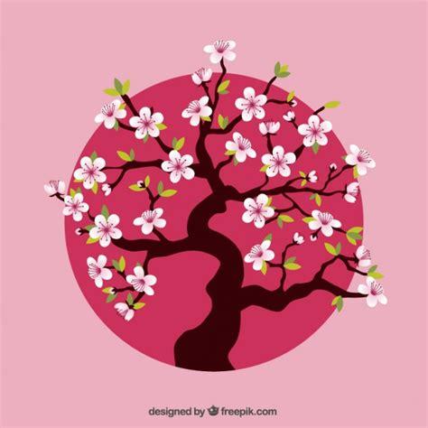 cherry tree vector cherry tree pink dot vector free