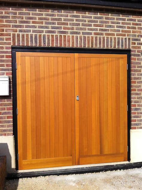 side hinged garage doors prices timber side hinged garage doors kent and sussex garage doors