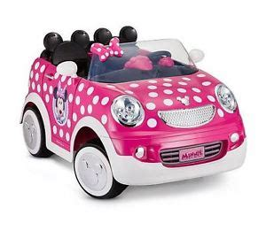 Car Set 8 In 1 Minnie 1 pink white disney minnie mouse rod coupe 12 volt power ride on car ebay