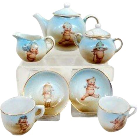 kewpie germany antique german kewpie small size tea set from