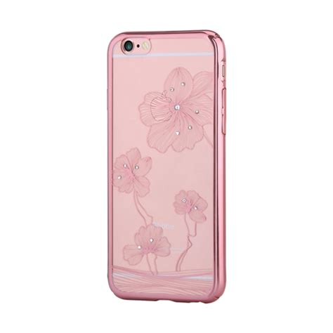 Devia Phone Ip6 Flora Pink comma flora 360 with swarovski elements for