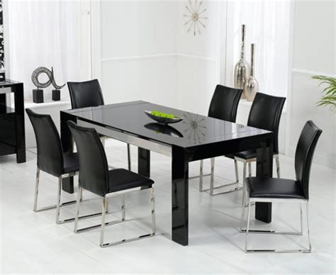 Modern Black Dining Room Tables Modern Black Dining Table High Quality Interior Exterior Design