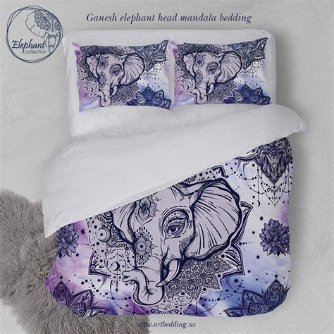 indie bedding elephant bedding bohemian lotus tattoo duvet cover set