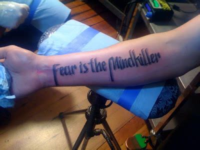 fear is the mind killer tattoo gallery for gt fear is the mind killer
