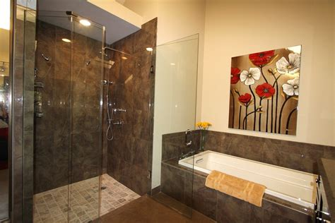 Remodeled Bathrooms Ideas Master Bathroom Remodel With Cabins Of Glass Bathroom Designs Ideas