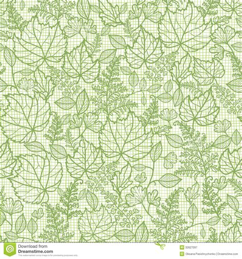 leaf pattern vector background lacey leaves lineart texture seamless pattern stock vector
