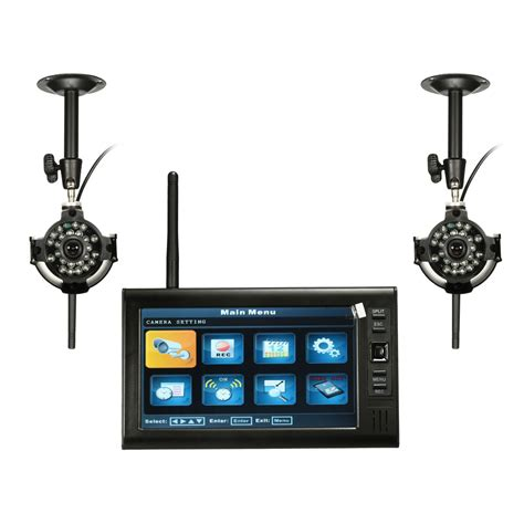 7inch ldc monitor dvr with 2 wireless cctv motion
