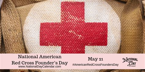national american red cross founders day   national day calendar