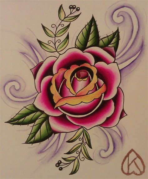 traditional style rose tattoos the gallery for gt traditional style