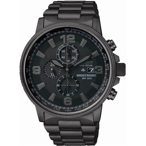 citizen eco drive ca0295 58e s hawk chronograph