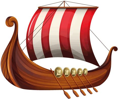 viking boats cartoon mysteries in time vikings for kids