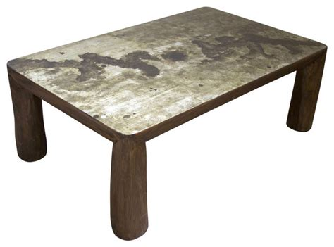 melbourne rustic live edge coffee table silver eclectic