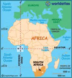 Africa On World Map by South Africa Map Geography Of South Africa Map Of