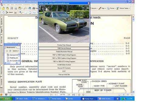 free online car repair manuals download 1968 pontiac lemans parking system pontiac master service parts manual 1967 1968 1969