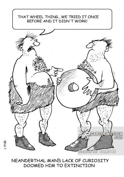 funny cartoons caveman wheel inventing the wheel cartoons and comics funny pictures