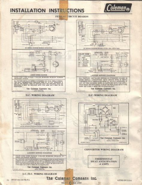 coleman rv ac parts diagram coleman free engine image