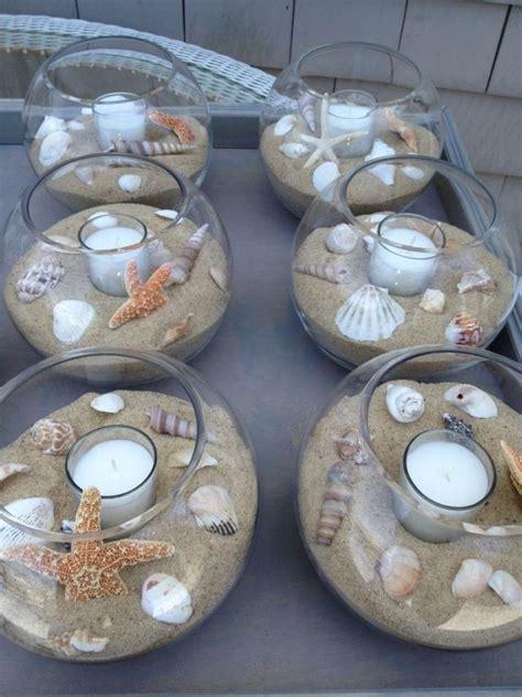 Tischdeko Hochzeit Chagner by Tischdeko Hochzeit Strand Motto Sand Muscheln Kerzen