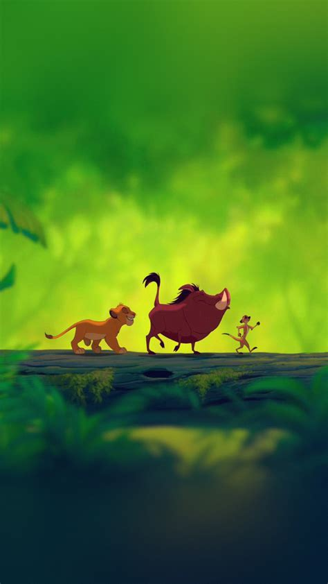 bd disnay hakuna matata simba cute animal art illustration wallpaper