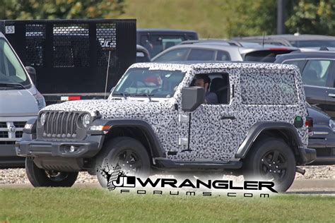 jeep wrangler 2 door hardtop spied wrangler 2 door jl rubicon top and export jl