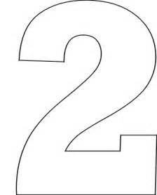 Number Stencil Templates Free by Number 2 Stencil Clipart Best