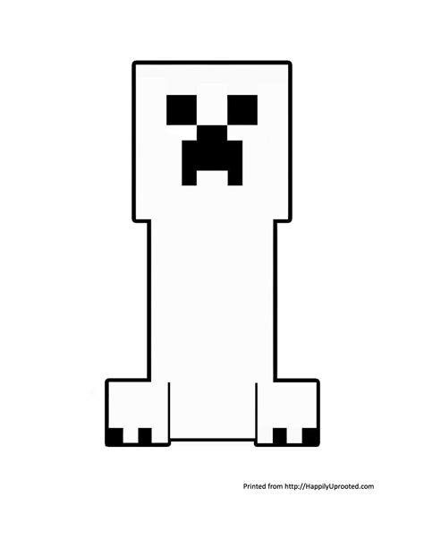 free creeper ausmalbilder coloring pages