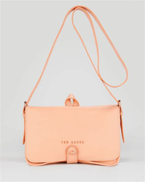 Ravee Bag From Ted Baker by Lyst Ted Baker Shoulder Bag Markun Stab Stitch In Orange