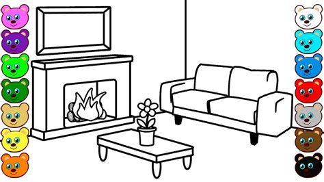 drawing room colour games learning colors for kids with fireplace living room