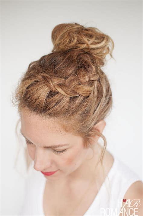 how to do knot hairstyles everyday curly hairstyles curly braided top knot