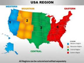 usa eastern region country powerpoint maps powerpoint