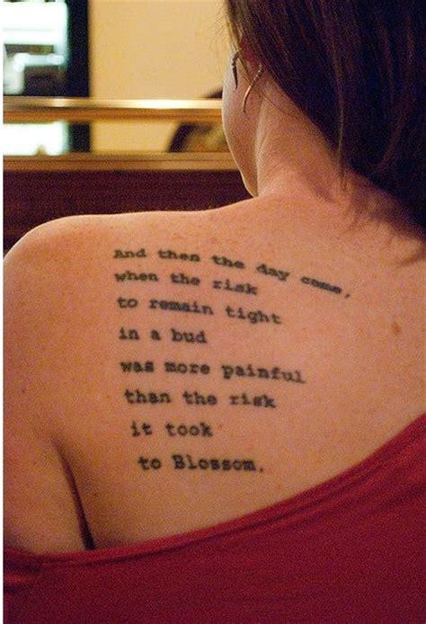tattoo back left 8 literary tattoos on back shoulder