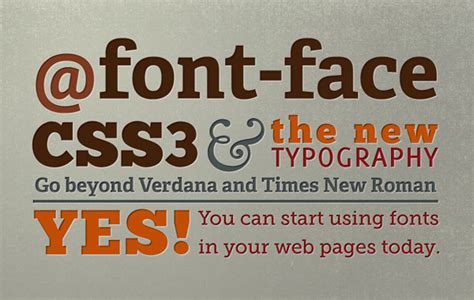 font design with css web fonts custom fonts using font face designmodo